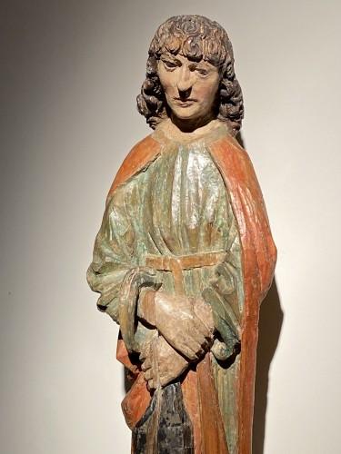 11th to 15th century - Saint John the Evangelist (Bohemia, lime, 15th)