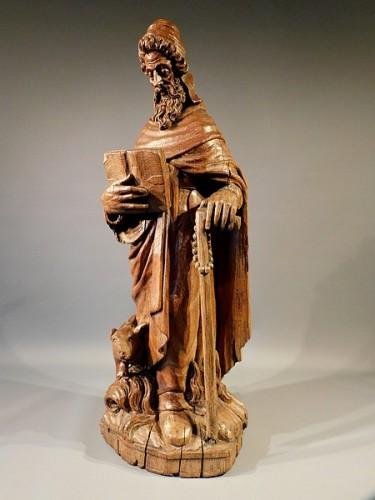 Saint Anthony (Flanders, ca 1600) - Religious Antiques Style Renaissance
