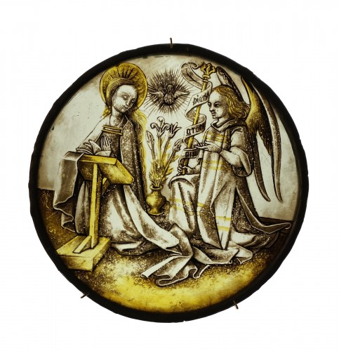Roundel with Annunciation (Germany, ca 1500)