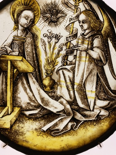 <= 16th century - Roundel with Annunciation (Germany, ca 1500)