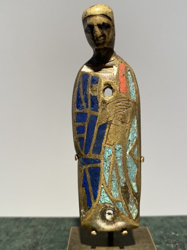 Reliquary Casket Puppet (Limoges, 13th) - Religious Antiques Style Middle age