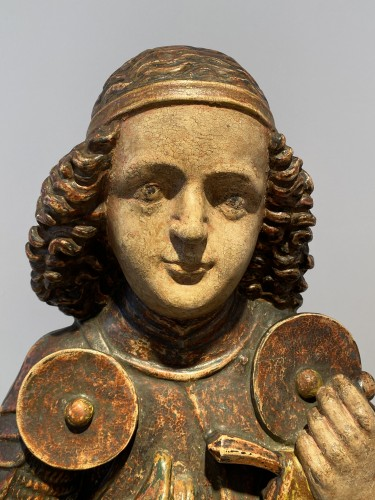 Saint Michael, Tyrol 15th century - Religious Antiques Style Middle age