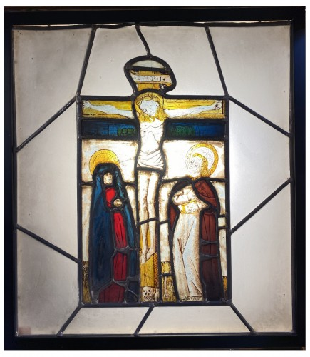 Stained glass with Crucifixion (Germany, 15th)
