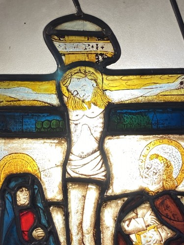 Stained glass with Crucifixion (Germany, 15th) -