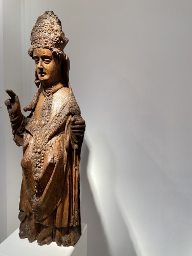 Blessing Bishop - France 15th century - Religious Antiques Style Middle age