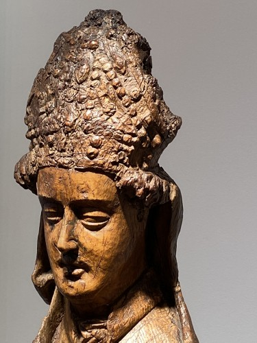 Religious Antiques  - Blessing Bishop - France 15th century