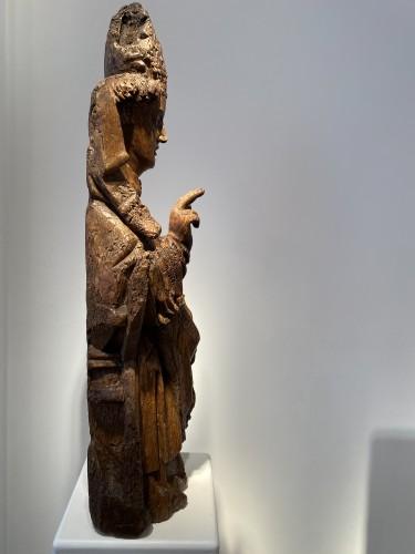 Antiquités - Blessing Bishop - France 15th century