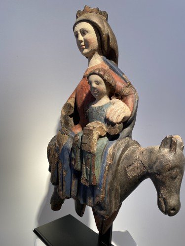 The Flight into Egypt, Spain 15th century - Middle age