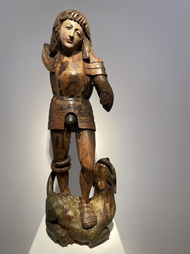 St. George and the Dragon, Germany circa  1500 - Sculpture Style Renaissance