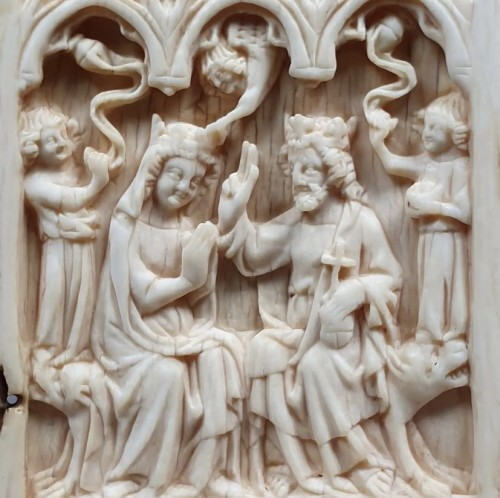 Middle age - Coronation of the Virgin (France, 14th)