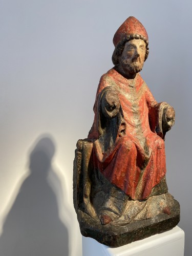 Bishop, France 14th century - Religious Antiques Style Middle age