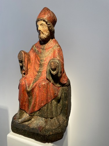Religious Antiques  - Bishop, France 14th century