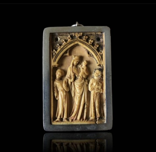 Small Gothic Ivory Plaque (France, ca 1350) - Middle age