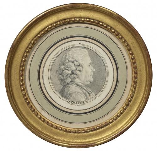 Charles-Nicolas Cochin (1715 - 1790) - portrait of Joseph Treyer