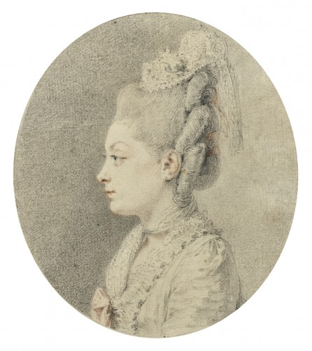 Portrait of a woman - Paintings & Drawings Style Louis XVI