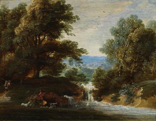 Jacques d'Arthois (Bruxelles 1613 – 1686) - Waterfall landscape