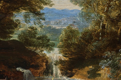 Paintings & Drawings  - Jacques d'Arthois (Bruxelles 1613 – 1686) - Waterfall landscape