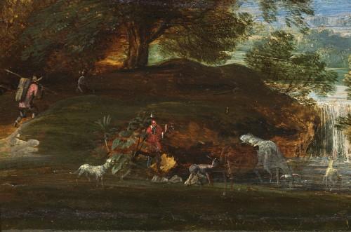 Jacques d'Arthois (Bruxelles 1613 – 1686) - Waterfall landscape -