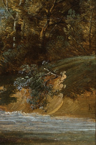 17th century - Jacques d'Arthois (Bruxelles 1613 – 1686) - Waterfall landscape