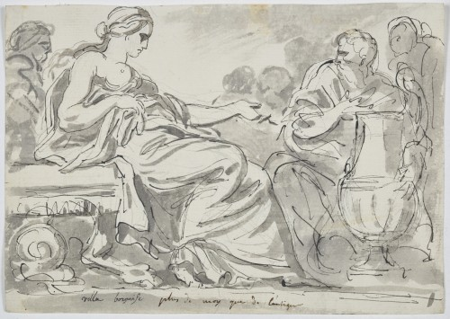 Paintings & Drawings  - Augustin Pajou (Paris 1730 -1809)  Study in the antique style