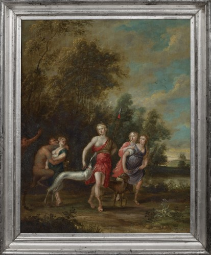Paintings & Drawings  - Anvers School (after Rubens) - Diana's Departure & The Bath of Diana