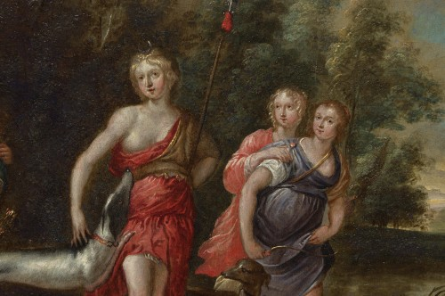 - Anvers School (after Rubens) - Diana's Departure & The Bath of Diana