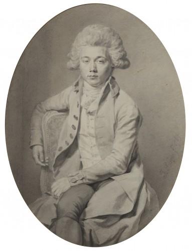 Jean-Urbain Guérin (1760 - 1836) Portrait of the Vicomte de Ségur - Paintings & Drawings Style Louis XVI