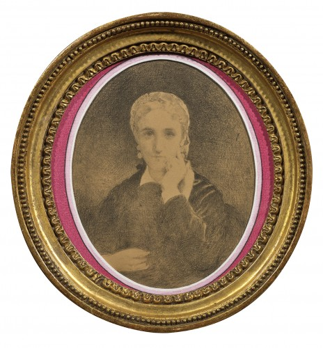Léon Bonnat (1833 - 1922) - portrait of a seated woman