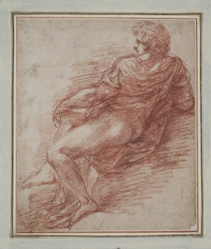 Study of a Reclining Man attributed to Giulio Cesare Procaccini (1574 - 162
