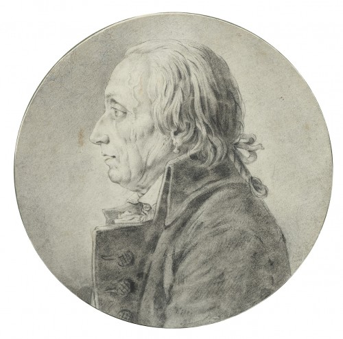 Portrait of an elderly man - School of Jacques-Louis David - Paintings & Drawings Style