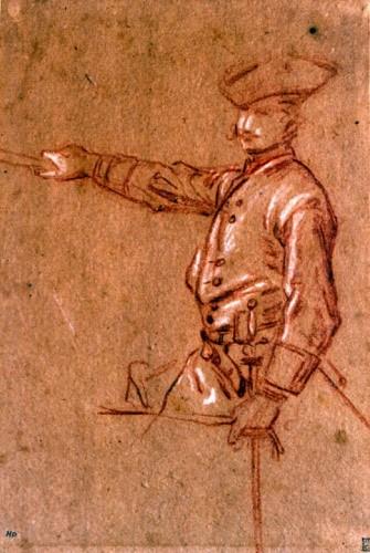 Jean-Marc Nattier (1685 - 1766) - Soldier asking for mercy -