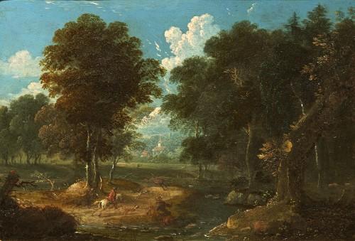 Peter von Bemmel (1685 - 1754) Stag hunting in the vicinity of Nuremberg