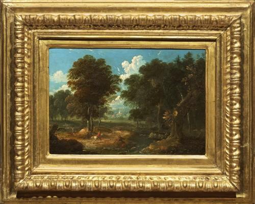 Peter von Bemmel (1685 - 1754) Stag hunting in the vicinity of Nuremberg - Paintings & Drawings Style