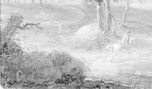 Peter von Bemmel (1685 - 1754) Stag hunting in the vicinity of Nuremberg -