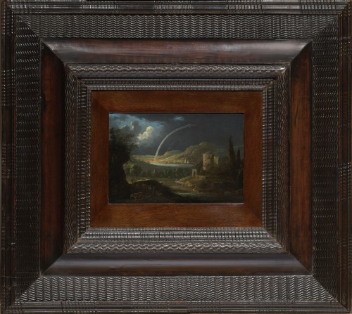 River Landscape with Sheperds and Ruined Architecture by Jan van Bunnik - Paintings & Drawings Style