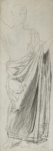 Astrée, study for the Golden Age - drawing by Jean-Auguste-Dominique Ingres