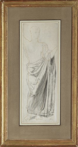 Astrée, study for the Golden Age - drawing by Jean-Auguste-Dominique Ingres - Paintings & Drawings Style Louis-Philippe