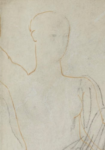 Paintings & Drawings  - Astrée, study for the Golden Age - drawing by Jean-Auguste-Dominique Ingres