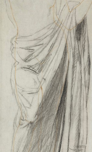 Astrée, study for the Golden Age - drawing by Jean-Auguste-Dominique Ingres -