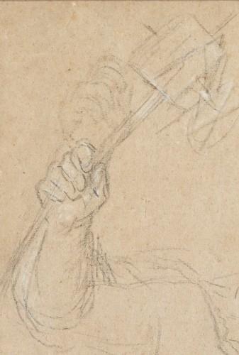 Paintings & Drawings  - Portrait of Marie Rosalie van Loo holding a windmill by Carle van Loo