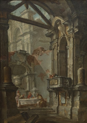 Architectural capriccio by Jean-Nicholas Servandoni (1695-1766)