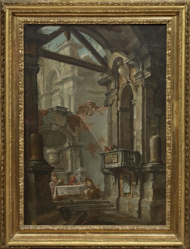 Architectural capriccio by Jean-Nicholas Servandoni (1695-1766) - Paintings & Drawings Style French Regence