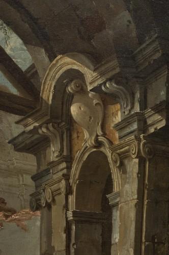 Architectural capriccio by Jean-Nicholas Servandoni (1695-1766) - French Regence
