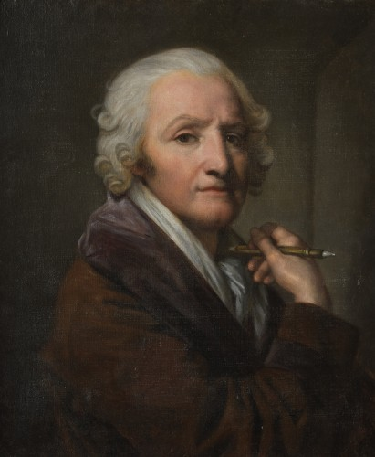Portrait of the painter Jean-Baptiste Greuze by his daughter Anna Greuze