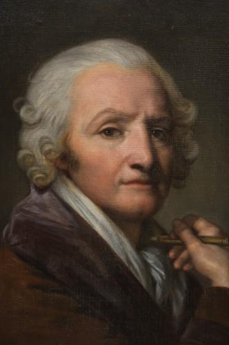 Portrait of the painter Jean-Baptiste Greuze by his daughter Anna Greuze -