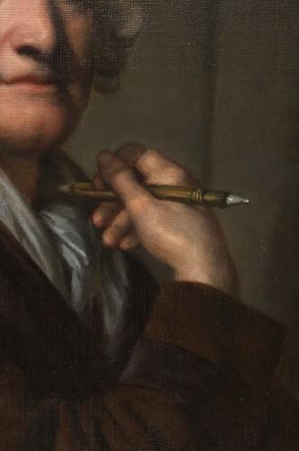 19th century - Portrait of the painter Jean-Baptiste Greuze by his daughter Anna Greuze
