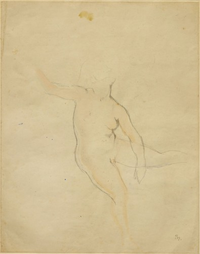 """Study for """"Getting up"""" – 1955 - by Balthus (Paris 1908 - Rossinière 2001)"""