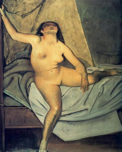 """Study for """"Getting up"""" – 1955 - by Balthus (Paris 1908 - Rossinière 2001) - 50"""
