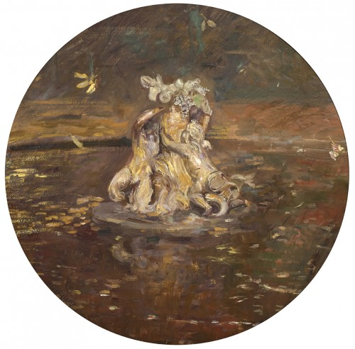 Autumn in Versailles by the impressionist painter Paul Helleu (1859 - 1927)