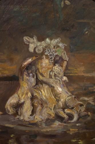 Antiquités - Autumn in Versailles by the impressionist painter Paul Helleu (1859 - 1927)